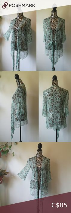 Nougat London Silk tie front sheer blouse This ethereal blouse looks straight out of a fairytale dream world Gorgeous mint color with brown floral print. Such a beautiful color combo Sheer 100% silk with very Subtly placed iridescent sequins that catch the light without being too flashy Wear it open or tied at the front Ultimate layering piece Perfect like new condition Fits size small/medium due to flowy nature Pics do this piece no justice! Original price at Nordstrom $240 Nougat London… Plus Fashion, Fashion Tips, Fashion Design, Fashion Trends, Rose T Shirt, Nature Pics, Mint Color, Brown Floral