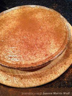 Dit is n treffer, ek bak dit al vir 37 jaar. Tart Recipes, Sweet Recipes, Baking Recipes, Dessert Recipes, Custard Recipes, Baking Desserts, Pizza Recipes, Yummy Recipes, Salad Recipes