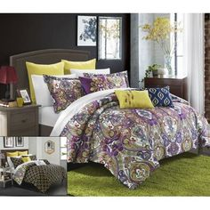 Chic Home Paisley Global Inspi 8-Piece Bombay Reversible Comforter Set