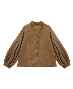 Corduroy Blouse with Choker Detail