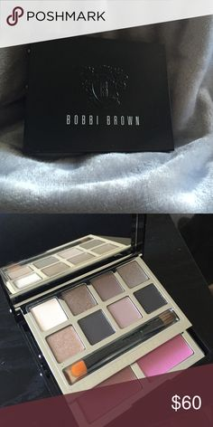 Bobbi Brown Deluxe Eye and Cheek Palette Bobbie brown limited edition eye and cheek palette 7 eye shadows and 2 blush with brush . Never used Bobbi Brown Makeup Eyeshadow