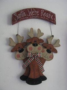 Santa were readysign wall decor door decoration by loisling, $18.00