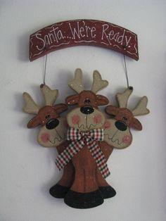 Santa were readysign wall decor door decoration by loisling, $18.00
