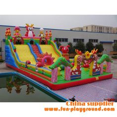 2014 hot selling inflatable outdoor park, kids inflatable amusement park, inflatable bouncers for rent