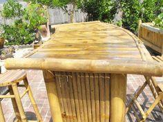 Details About Curved Bamboo Tiki Bar Set Bambo W 2 Diy Outdoor Bar, Outdoor Living, Outdoor Decor, Diy Außenbar, Irish Bar, Bamboo Bar, Tiki Bars, Rattan, Wicker