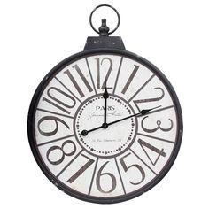 Relógio de Parede Paris Grande Oldway - Metal e Madeira - 78x60 cm