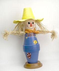 Clay Pot Crafts | clay pot scarecrow
