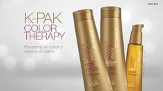 K-PAK Color Therapy Nuestra línea K-PAK Color Therapy contiene extractos de aceite de manketti africano y aceite de argán que repara y sella la capa protectora exterior del cabello bloqueando la decoloración y reservando su vitalidad e hidratación. #JoicoCR #hairjoi #joico