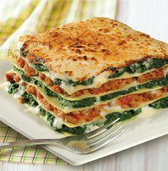 Lasagne met iglo spinazie en gehakt | Iglo