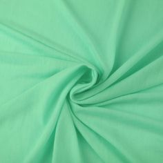 Seafoam Light JERSEY KNIT Fabric Apparel Fabric Seafoam Green Designer Polyester Rayon Spandex Jersey Knit Fabric by the Yard. $4.90, via Etsy.