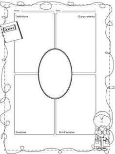 Science Themed Frayer Model Worksheets  Writing Practice
