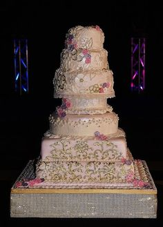 Asian Gold meets Vintage - cake by Kelly Anne Smith Exotic Wedding, Elegant Wedding Cakes, Beautiful Wedding Cakes, Beautiful Cakes, Amazing Cakes, Cake Icing, Eat Cake, Cupcake Cakes, Pretty Cakes