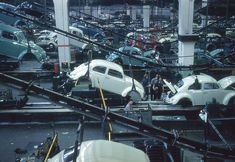 Bugs come to life at Wolfsburg Germany - Volkswagen Assembly Line