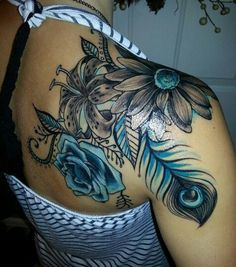http://tattoomagz.com/blog/59-sublime-feather-tattoos-that-look-gorgeous/3/
