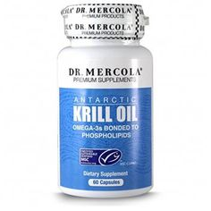 Mercola Krill Oil - 60 Capsules - Antarctic Krill Oil - An Improved Alternative To Fish Oil - Bonded To Phospholipids, White Protein Supplements, Best Supplements, Natural Supplements, Nutritional Supplements, Healthy Brain, Healthy Snacks, Krill Oil Capsules, Pre Workout Supplement, Fish Oil