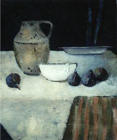""""""" La tasse blanche""""- Bénédicte Garnier-Fihey-Oil on  canvas"""