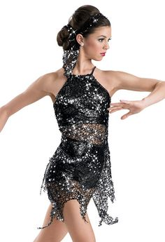 Sequin Netting Metallic Dress -Weissman Costumes