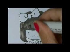 Great video showing how to color black hair with Copics.  Melyssa did a grand job!