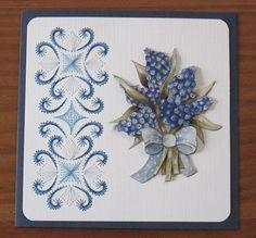 Voorbeeldkaart - Blauw Druifje - Categorie: Borduren - Hobbyjournaal uw hobby website