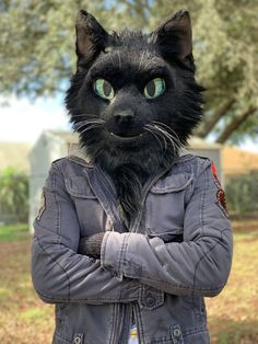 Love the eyes. Animal Costumes, Cat Costumes, Cat Fursuit, Fursuit Tutorial, Furry Suit, Wolf Stuff, Epic Cosplay, Cat Makeup, Character Design
