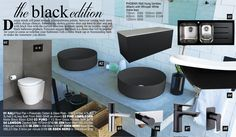 The Black Edition Feature Article Feature Article, Black Edition, Dream Bathrooms, Reno Ideas, Design Trends, Your Style, Vanity, Dressing Tables, Powder Room