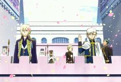 Princes Izana & Zen...Kiki & Mitsuhide in background