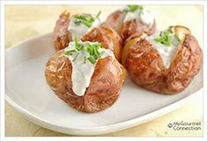Blue Cheese-Chive Stuffed Potatoes