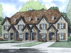 025M-0096: Multi-Family Home Plan Offers Four Units