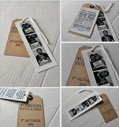 DIY Wedding Invitations @joanchanterest since you're going to have a photo booth this would be cute!