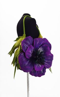 Felted Bag Nunofelt Handbag Flower Bag ANEMONE Art Purse Purple Olive Felt wearable art Nuno felt shoulder bag fairy floral fantasy boho via Etsy