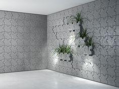 Płyta betonowa 3D - Bettoni - Puzzle - szara