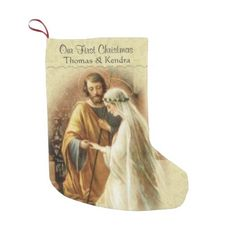 Newlywed First Christmas Married Small Christmas Stocking - christmas stockings merry xmas cyo family gifts presents