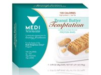 $16.10 Protein Bar - Peanut Butter Temptation Our 100 Calorie Protein Bars offer superior taste and variety while providing 10 grams of high-quality protein.