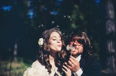 bride and groom, Wedding, Quiet Creek Inn, Idyllwild, California