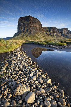 Mountain Lómagnúpur, south Iceland