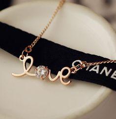 Love letter Rhinestone Necklace | LilyFair Jewelry, $19.99!
