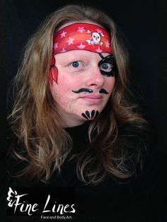 Pirat Kinderschminken / Pirate face painting Fine Lines Face and Body Art, Leipzig, Germany. Kinderschminken. Face Painting. Body painting. Belly painting. Bauchbemalung.