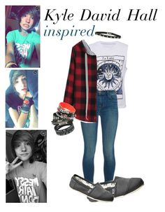 """""""kyyy"""" by imwithawesome ❤ liked on Polyvore featuring J Brand, TOMS, MDE and Mydigitalescape"""