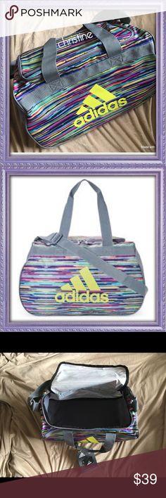 "NEW!🍇ADIDAS🍇 Duffle/Gym Bag 🍇New!  🍇ADIDAS 🍇Multi-colored Duffle/Gym Bag 🍇Bright vibrant colors 🍇Size: 18""L x 11""W x 12""H adidas Bags Travel Bags"