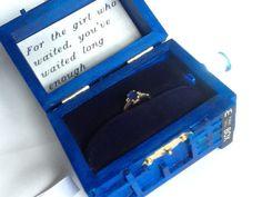 For The Girl Who Waited, TARDIS Wedding Ring Box With LED Light Handmade Tardis Engagement Ring Box Doctor Who on Etsy, $65.75