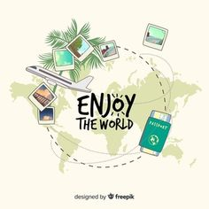 Flat travel background Free Vector background Practical travel advice and tips Take few items with you If you're really a traveler, your Travel Icon, Travel Usa, Travel Europe, China Travel, Travel Destinations, Travel Tips, Travel Videos, Free Travel, Logo Instagram