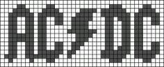 musique - music - acdc - point de croix - cross stitch - Blog : http://broderiemimie44.canalblog.com/