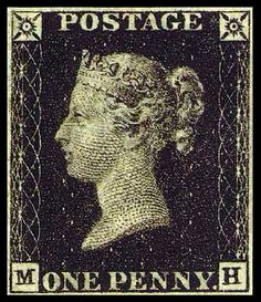 "The world's first postage stamp was issued by Great Britain in 1840. Featuring a bust of Queen Victoria, it has come to be known as the ""Penny Black."" It also marked the introduction of ""uniform penny postage"" in a mail system: the rate to carry a letter to ANY destination within the country was now the same, and not based on distance carried."