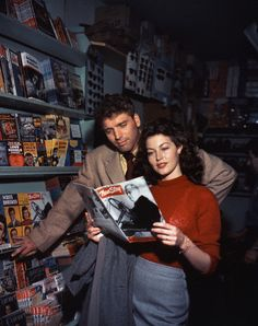 Ava Gardner and Burt Lancaster on the set of the 1946 film The Killers