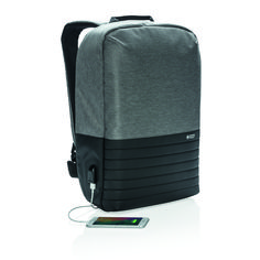 This laptop backpack with anti-theft back opening makes it easy to carry your Laptop Rucksack, Anti Theft Backpack, Usb, Client Gifts, Branded Gifts, Tech Gadgets, Travel Bags, Backpacks, Wallet