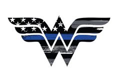 Thin Blue Line Wonder Woman Vehicle Decal. Vinyl Decal. Law Enforcement Sticker. Police Decal by ANGPrintingAndDesign on Etsy