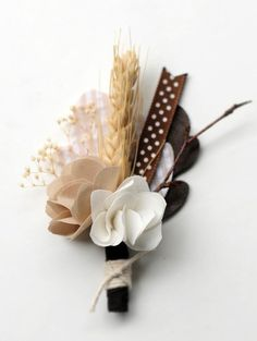 Into the Woods Boutonniere #wedding #flower