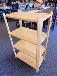 Amish built 4-tier, large plant stand crafted from Oak with a golden finish. Great for organizing or displaying! (One currently available)