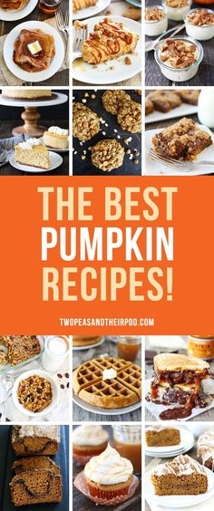 25 of the Best Pumpkin Recipes! You will want to make all of these pumpkin recipes this fall!