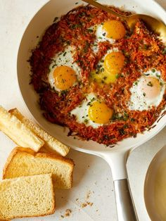 Cheesy Skillet Sweet Potato Hash Browns and Eggs